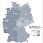 """Der prozentuale Anteil von Unternehmen, die ihre Rechnungen verspätet oder nicht bezahlen, variiert je nach Bundesland. Die höchste Nicht- bzw. Spätzahlerquote gab es im September 2015 im Saarland. Hier zahlten 19,2 Prozent der Firmen die Rechnungen verspätet oder gar nicht. Ebenfalls hohe Werte lieferten Berlin (Spät- oder Nichtzahlerquote von 18,0 Prozent), Bremen (17,2 Prozent), Hamburg und Nordrhein-Westfalen (16,4 Prozent) und Niedersachsen (16,1 Prozent). Die beste Zahlungsmoral haben Unternehmen in Sachsen. Hier liegt die Spät- bzw. Nichtzahlerquote bei 11,3 Prozent. Auch in Thüringen (11,5 Prozent), Mecklenburg-Vorpommern und Schleswig-Holstein (je 13,2 Prozent), Sachsen-Anhalt (13,3 Prozent), Brandenburg (13,7 Prozent) und Bayern (13,8 Prozent) ist die Zahlungsmoral der Firmen besser als im Bundesdurchschnitt. Weiterer Text über ots und www.presseportal.de/nr/22285 / Die Verwendung dieses Bildes ist für redaktionelle Zwecke honorarfrei. Veröffentlichung bitte unter Quellenangabe: """"obs/BÜRGEL Wirtschaftsinformationen GmbH & Co. KG"""""""